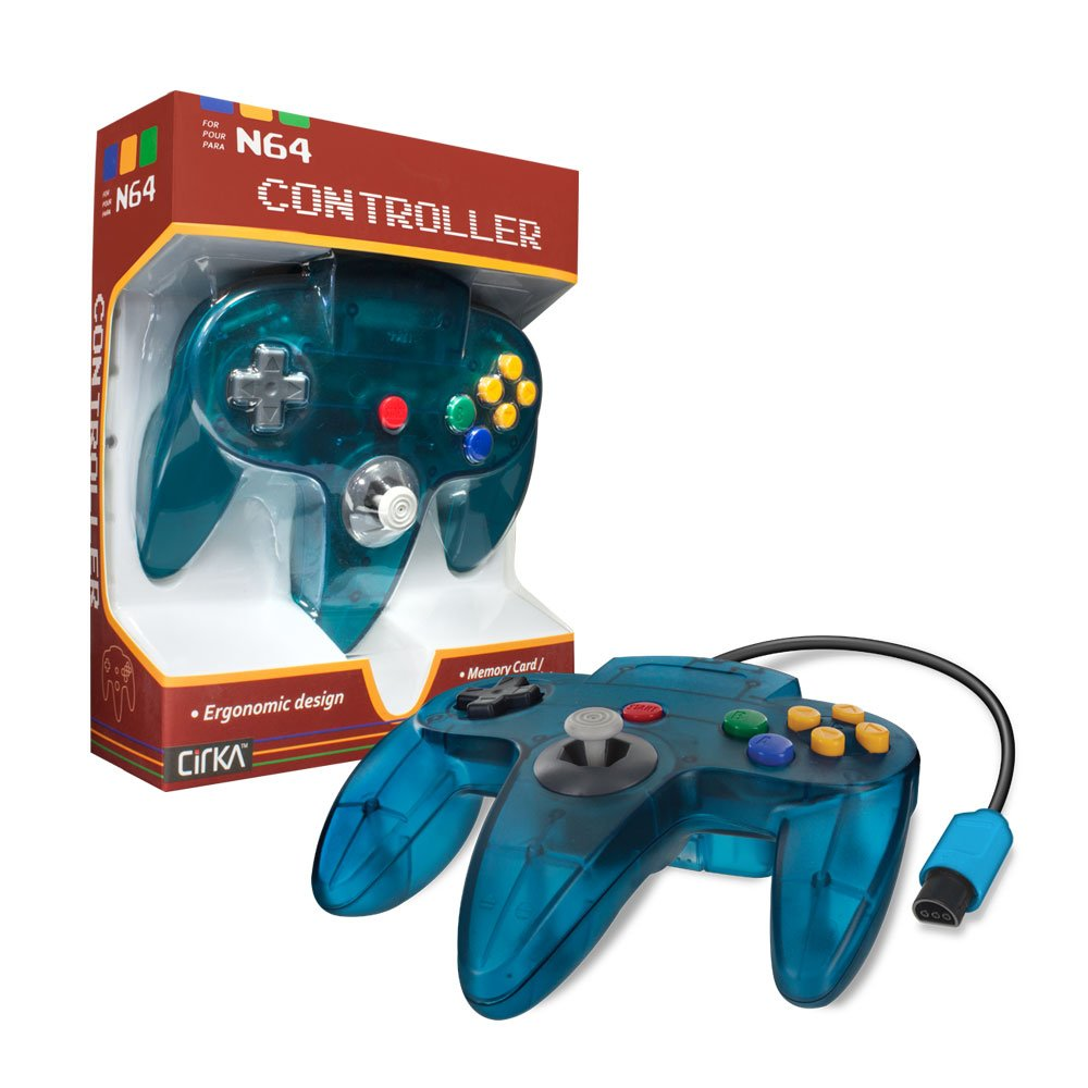CirKa Controller for N64 (Turquoise): nintendo_64: Computer and ...
