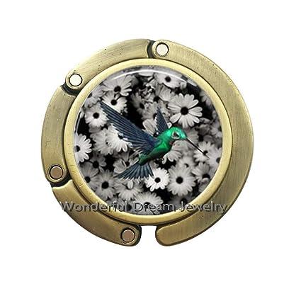 Pu123 - Gancho para monedero de cristal, diseño de colibrí: Amazon ...
