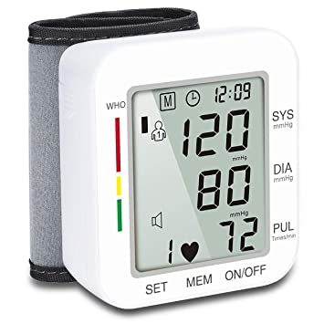Hong S Wrist Automatic Blood Pressure Monitor Voice Broadcast Clinical High Blood Pressure Monitor with Large
