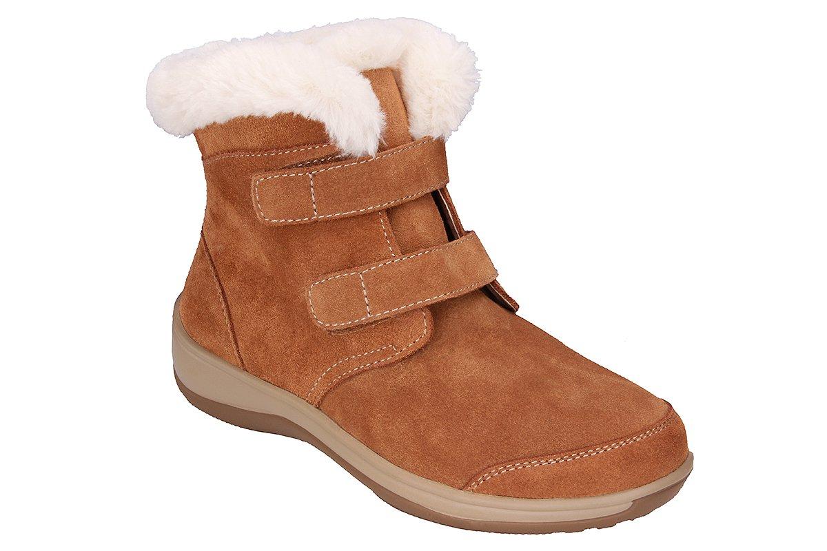 Orthofeet Florence Comfort Heel Pain Flat Feet Plantar Fasciitis Wide Diabetic Orthopedic Women's Boots 9.5 W US by Orthofeet (Image #1)