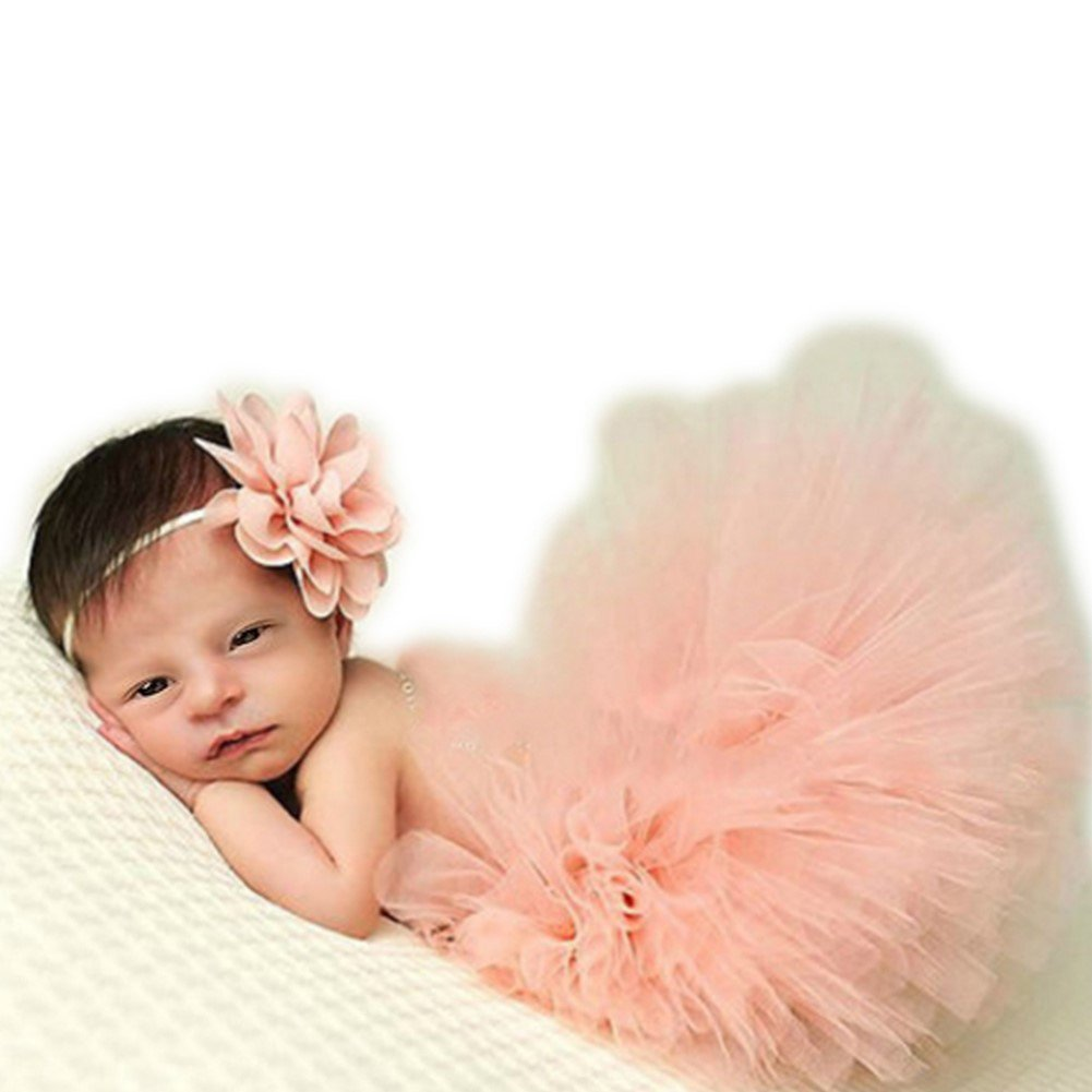 Newborn Baby Photo Props Tutu Dress Outfits Photography Shoot Clothing for Girls Vemonllas JNA-018
