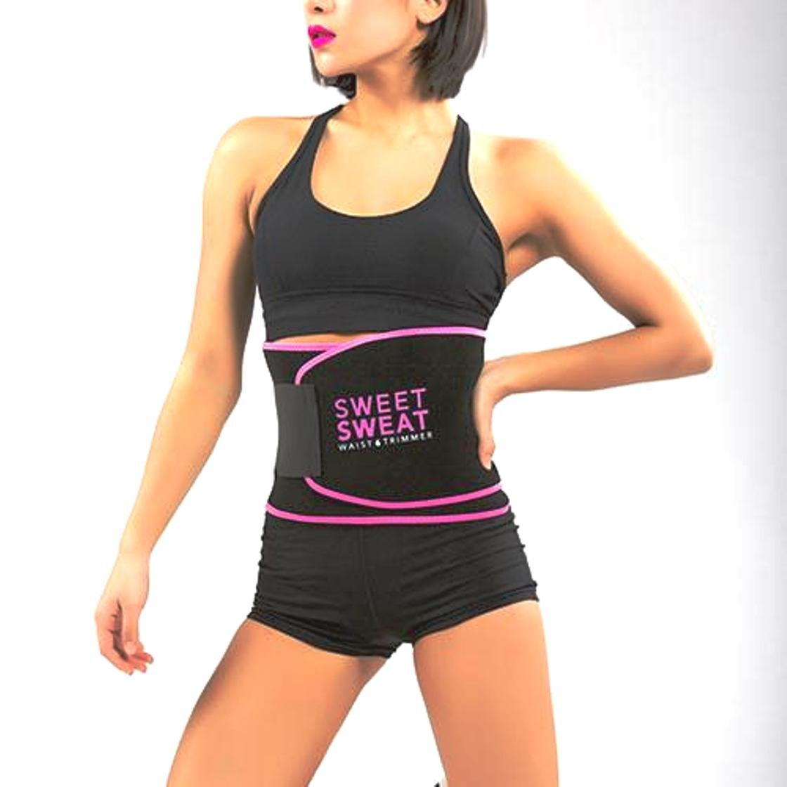 32fc64623f Buy Sweet Sweat Waist Trimmer® Pink Color Hot Waist Shaper Belt Instant  Slim Look Belt for Women Online at Low Prices in India - Amazon.in