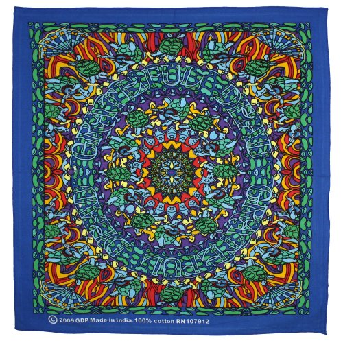Sunshine Joy Tribal Face Psychedelic Bandana 22x22 Inches