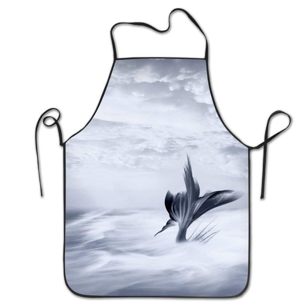 ユニセックスシンレッド魚ラインAmerican Flagロックエッジ防水耐久性文字列調節可能お手入れ簡単料理エプロンHenエプロンレディースメンズのシェフ   B07FNJQW52