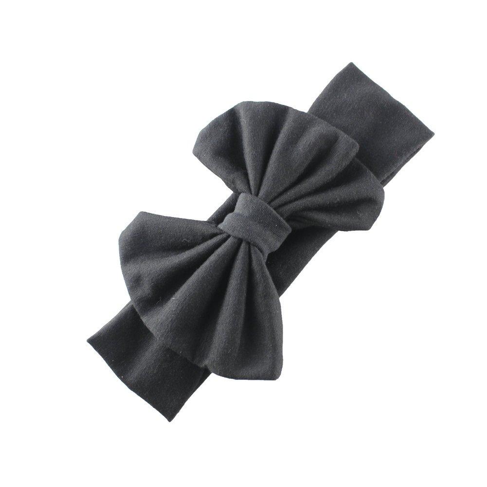 HBF 8 PCS Soft Boutique Baby Girl Headband Elastic Adorable Bow Headband 1 One size Baby Headband