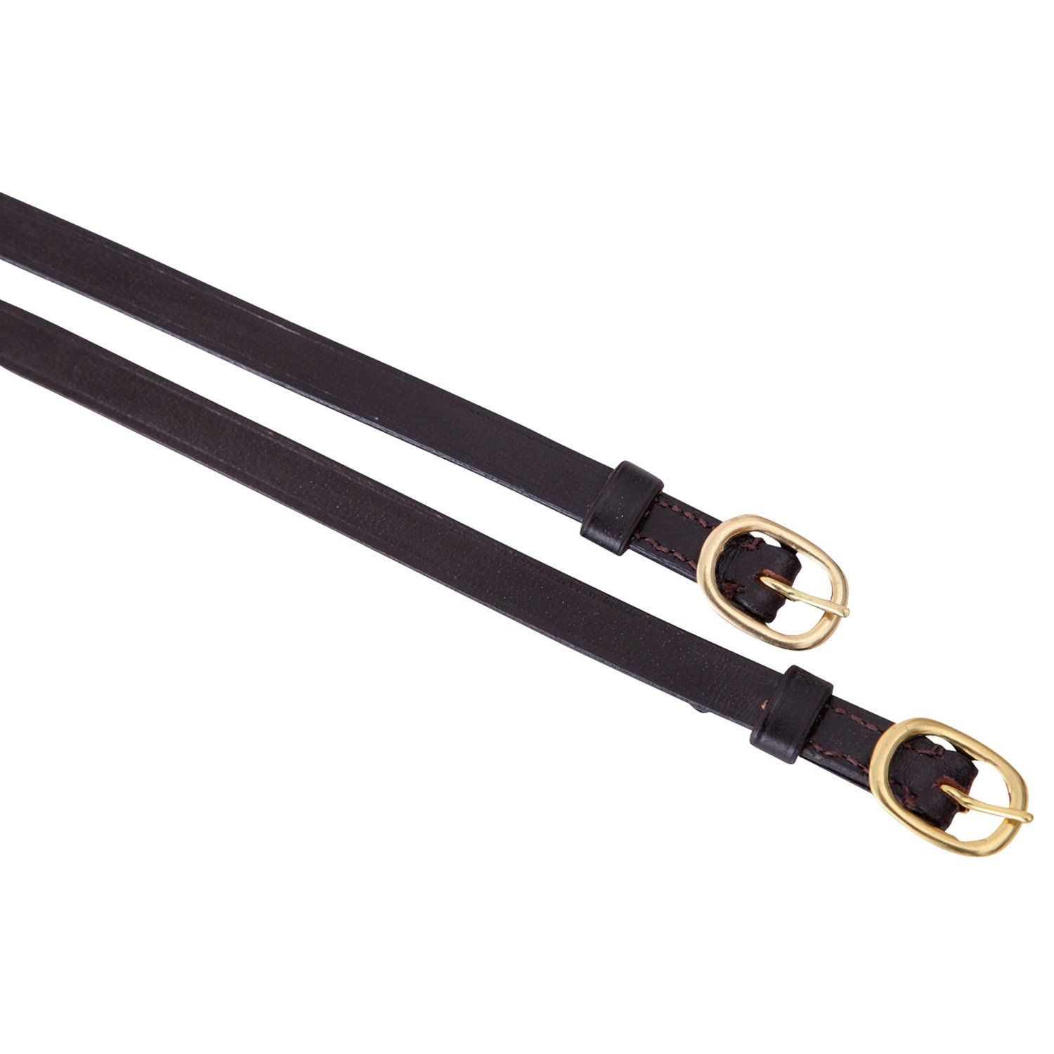 Shires Equestrian Brown Leather Spur Straps