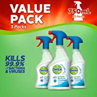 Dettol Antibacterial Surface Cleaning Spray, 750 ml, Pack of 3