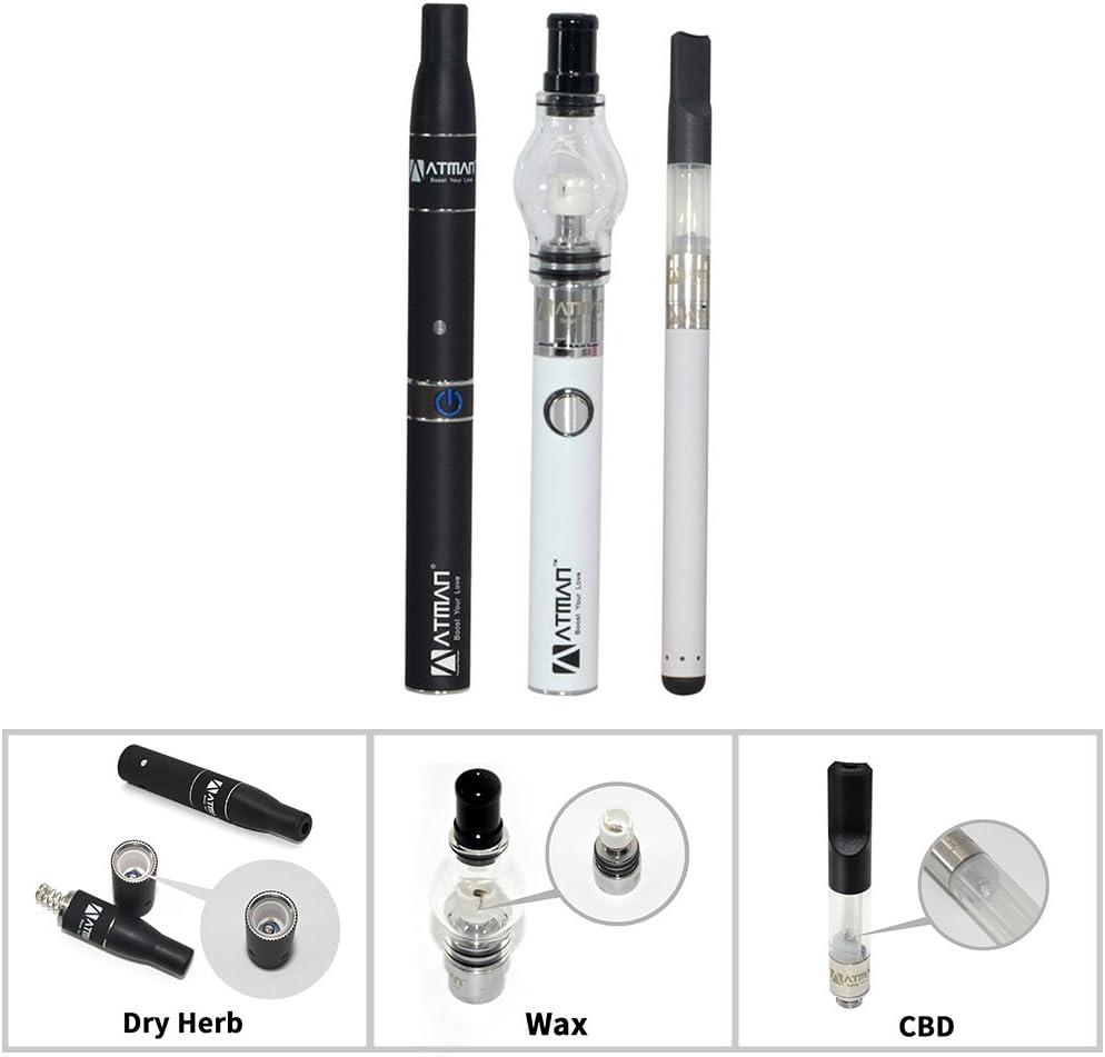 ATMAN Luxury Triad Kit para hierba / cera / líquido sin nicotina, blanco