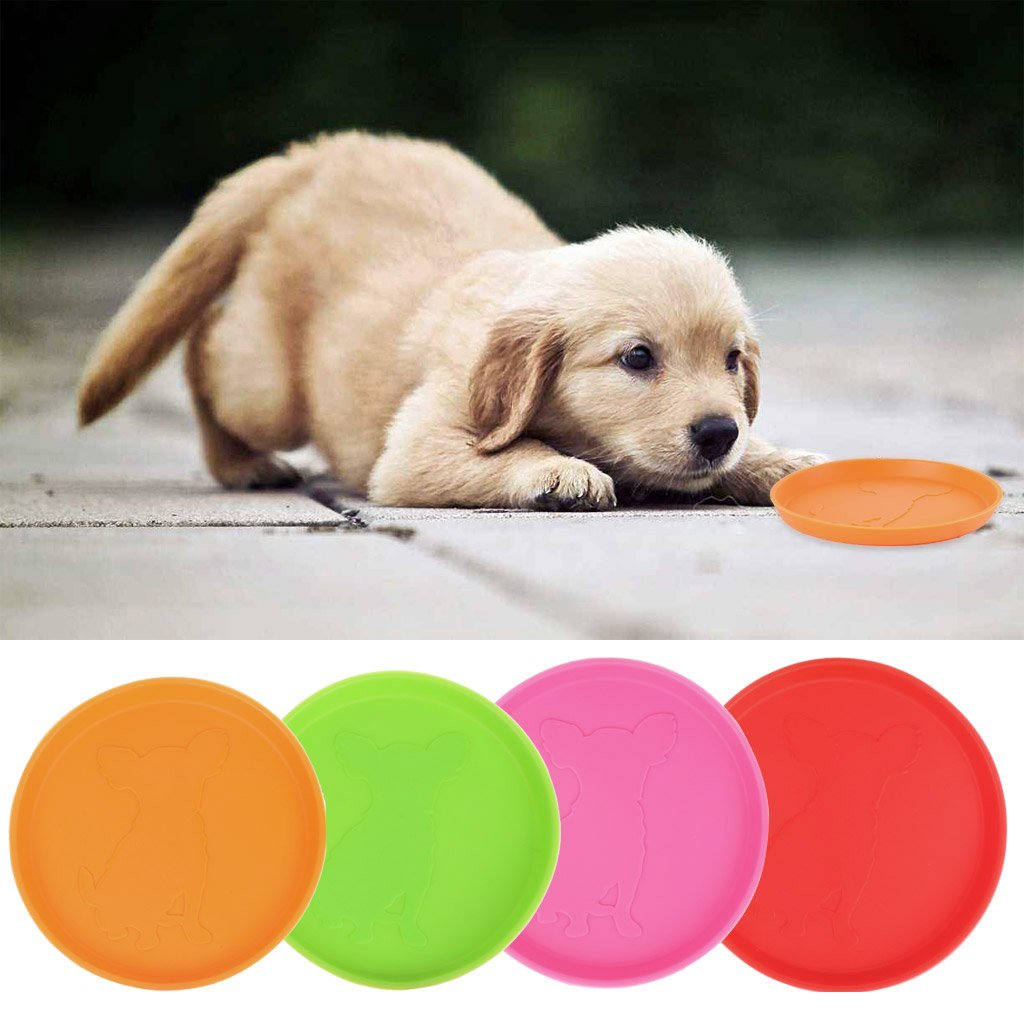 Xuniu Dog Frisbee Outdoor Training Rubber Flying Discs Perro Interactivo Toy Tooth Resistant 10cm
