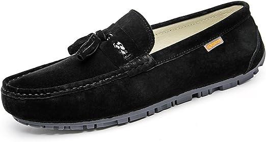 Jiuyue-shoes, Mocasines Informales para Hombre, de Ante británico ...