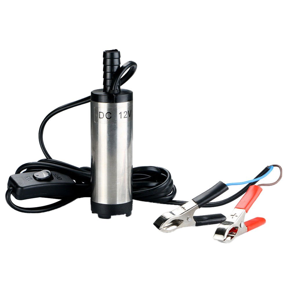 Auntwhale Car Pump Ransfer Pump Portable 12V DC Silver Fishing Water