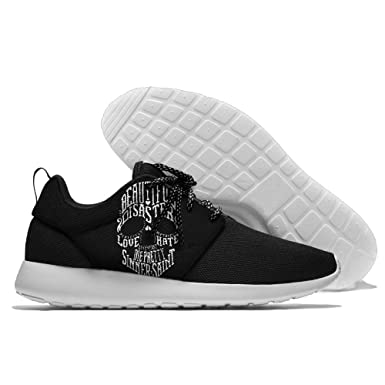 Men Women Gym Shoes Athletic Sneakers Beautiful Disaster Love Hate Mesh Training Shoes Running Shoes