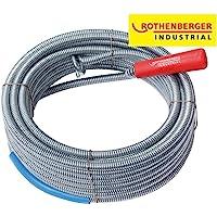 Rothenberger Industrial 072986E - Desatascador en espiral con cabeza de enganche (longitud 10 m), color gris