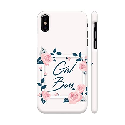 huge selection of 461d9 d9c24 Colorpur Girl Boss Printed Back Case Cover for iPhone X: Amazon.in ...