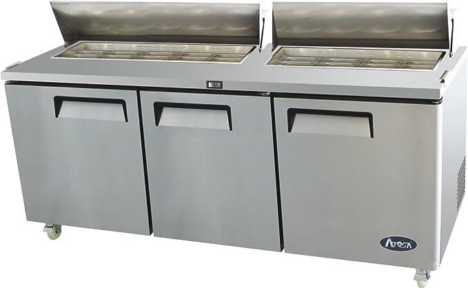 Amazon.com: Refrigerador Atosa USA MSF8304 de acero ...