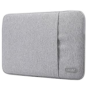 """Lacdo 15 Inch Water Resistant Laptop Sleeve Case for MacBook Pro 15-inch Retina 2012-2015 /Dell XPS 15/ ASUS VivoBook S / Dell Inspiron 14"""" / Ultrabook Chromebook Carrying Case Notebook Bag, Gray"""