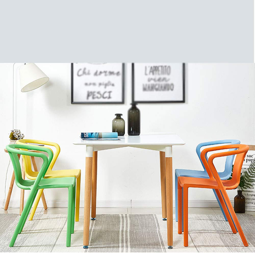 LiXiZhong Silla de Comedor de plástico Moderna y Minimalista ...