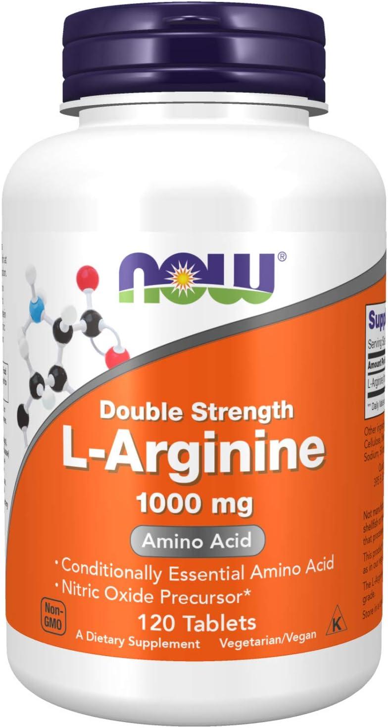 NOW Foods Supplements, L-Arginine 1,000 mg, Nitric Oxide Precursor, Amino Acid, 120 Tablets: Health & Personal Care