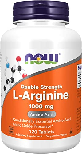 NOW Supplements, L-Arginine 1,000 mg, Nitric Oxide Precursor*, Amino Acid, 120 Tablets