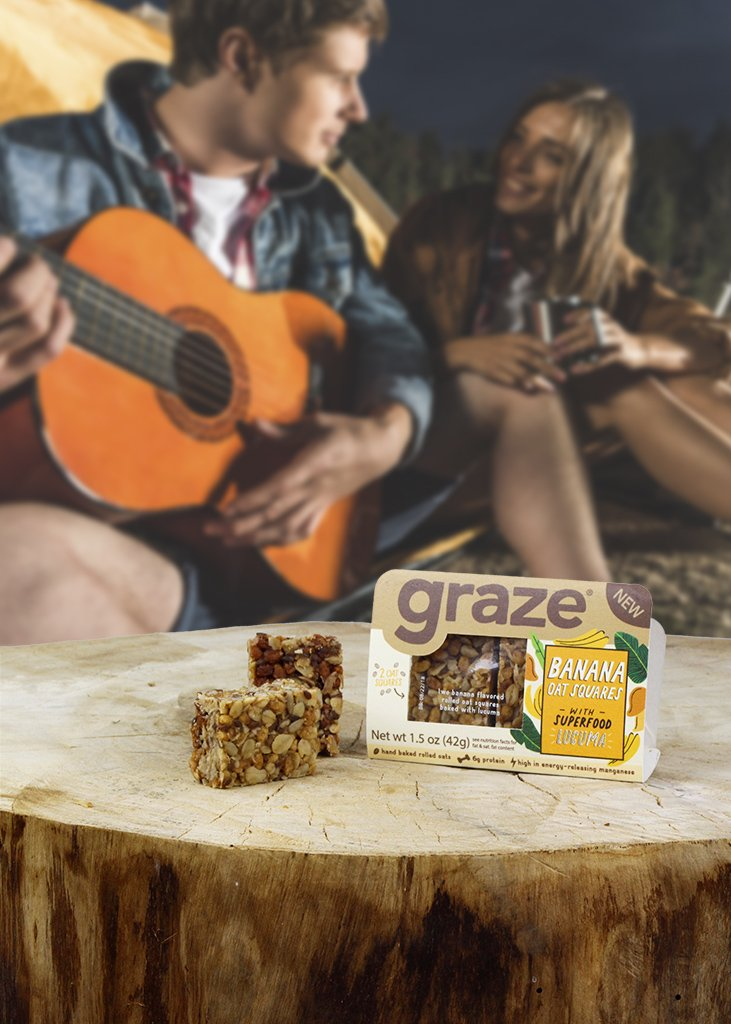 Amazon com : Graze Natural Banana Oat Squares with Superfood