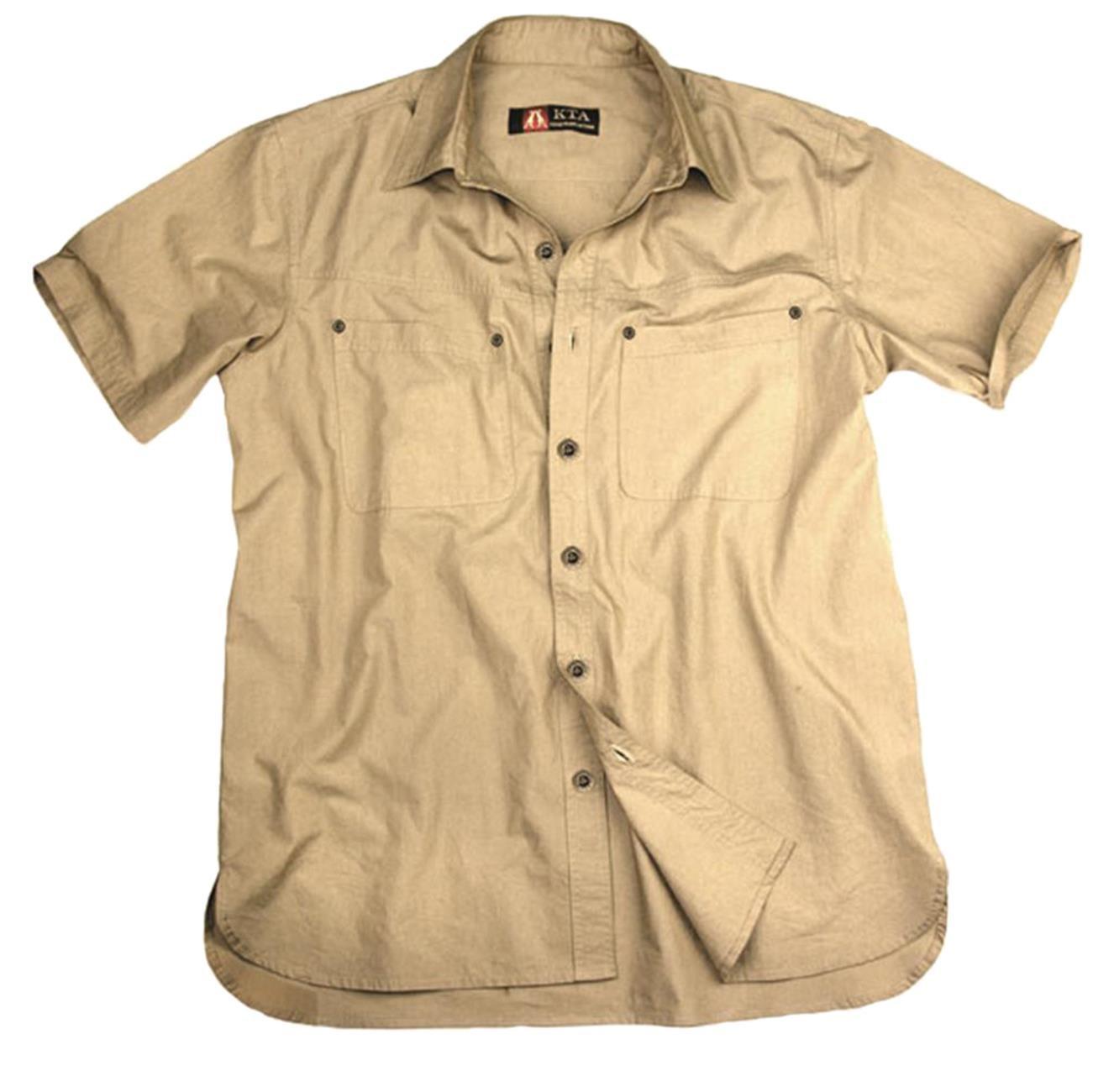 Halbarm 1 2 Herren-Safari Shirt Kingsland AUD der Kakadu Australia Kollektion, bequem geschnitten aus Leichter 5oz Baumwoll-Qualität