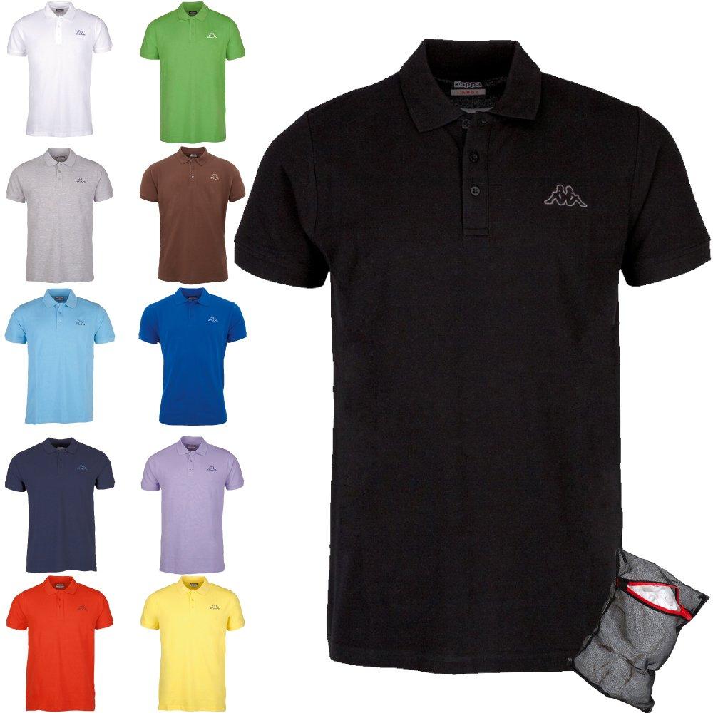1 x noir M Kappa Hommes Polo Shirt Ziatec Edition - 1 à 6 Packs Disponible en Plusieurs Couleurs, Taille XXL, Couleur 10 x mélange