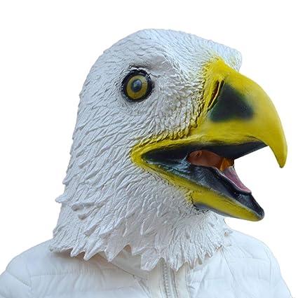 Rawdah Máscara de águila Látex traje animal traje de Halloween
