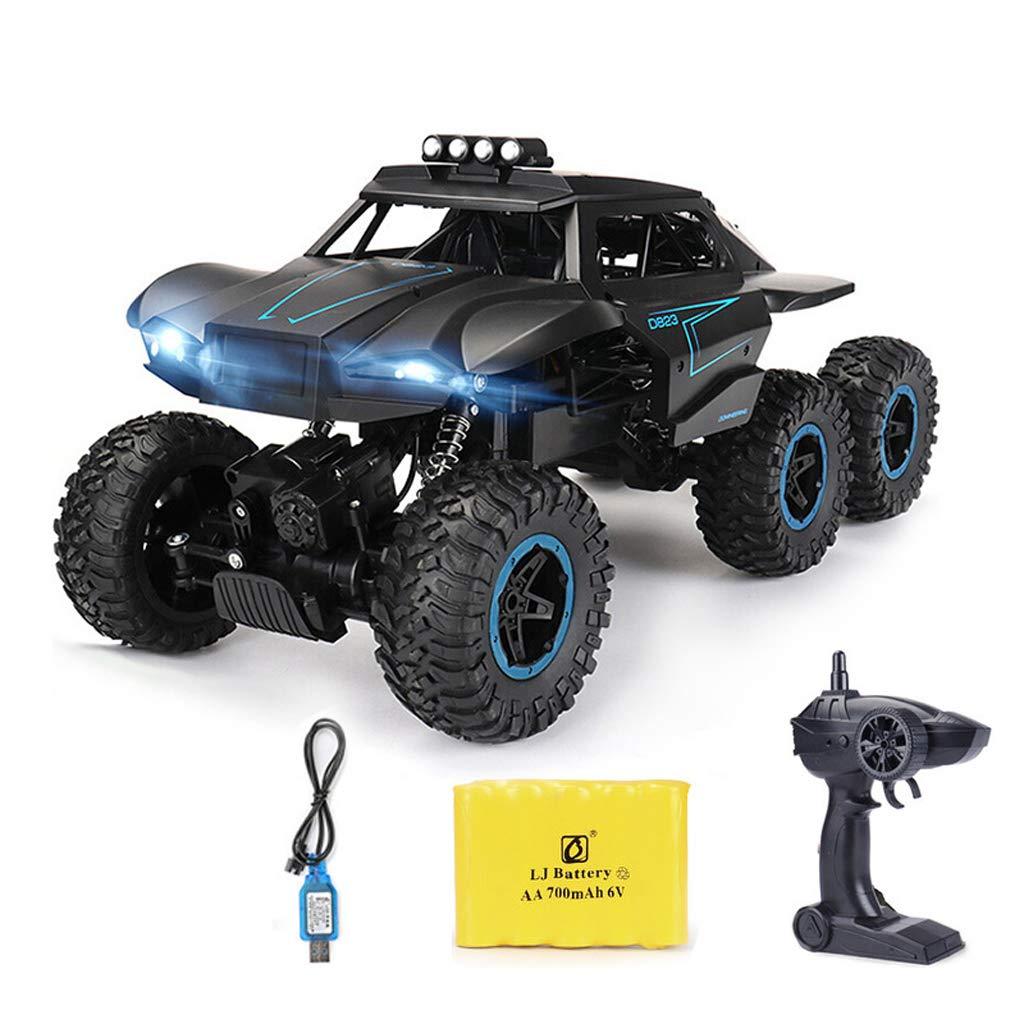 RC-Auto, drahtlose Fernbedienung RC-Spielzeugauto, 6-Rad-Antrieb, Jeep, super große Fernbedienung für Geländewagen, , Geburtstagsgeschenk für Kinder und Erwachsene (2 wiederaufladbare Batterien enthal Blau