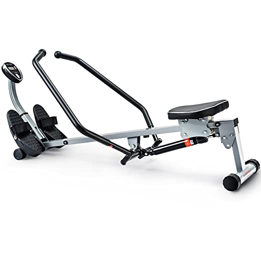 Sunny Health & Fitness Rowing Machine with Full-Motion Arms