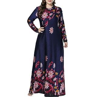 zhruiqun Donne Floreale Cocktail Abito da Sera - Signora Taglia Grossa  Elegante Maxi Vestiti Dubai Abaya a615c923a79