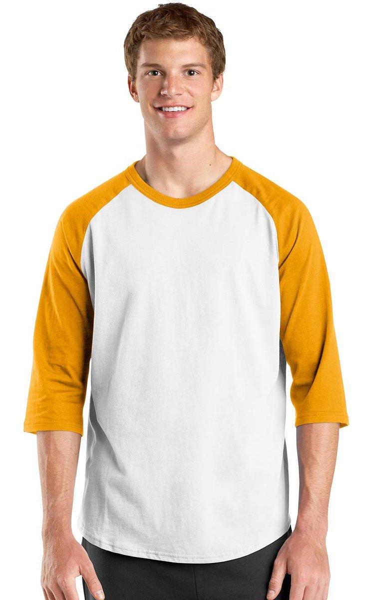 Sport-Tek SHIRT メンズ B014W12W4Y XS|ホワイト/ゴールド ホワイト/ゴールド XS