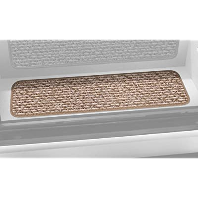 Prest-O-Fit 5-3092 Decorian Step Huggers For RV Landings Butter Pecan Brown 10 In. x 23.5 In.: Automotive