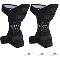 Volwco Knee Booster Knee Protection, Power Lift Joint Support Knee Pads Powerful Rebound Spring Force Brace Rebound Booster Adjustable Patella Strap for Mountaineering Deep Care Outdoor Sports
