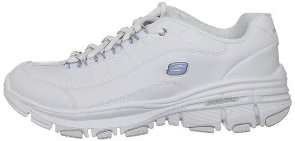 Skechers USA Ltd Women's Bravos Reenergize White/Blue Walking Shoes 11622 2  UK: Amazon.co.uk: Shoes & Bags