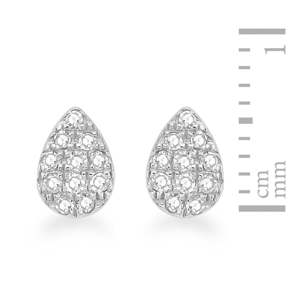 a66f9413e Carissima Gold 9ct White Gold 0.11ct Diamonds Stud Earrings: Amazon.co.uk:  Jewellery