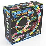 twister trax light up cars - Mindscope Twister Tracks Trax 360 Loop 13' (feet) of Neon Glow in the Dark Track with One Light-Up (Pulse LED) Vehicles Sports Car Series
