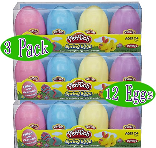 Play-Doh Spring Eggs 4-Pack Gift Set Bundle (12 Eggs & 24oz Total) - 3 Pack