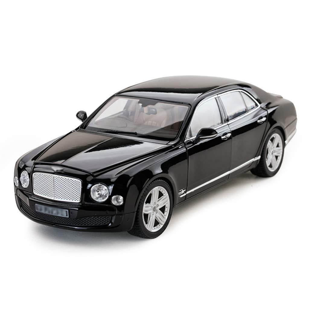 Black CAOYU Alloy car model Simulation alloy toy car model static car model gift model jewelry (color   Black)