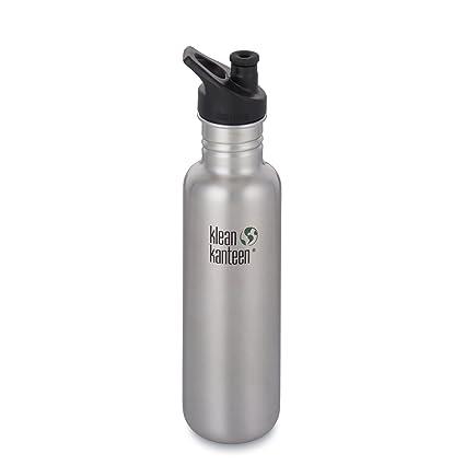 Klean Kanteen Classic Single Wall Stainless Steel Bottle With Leak Resistant Sport Cap 3.0