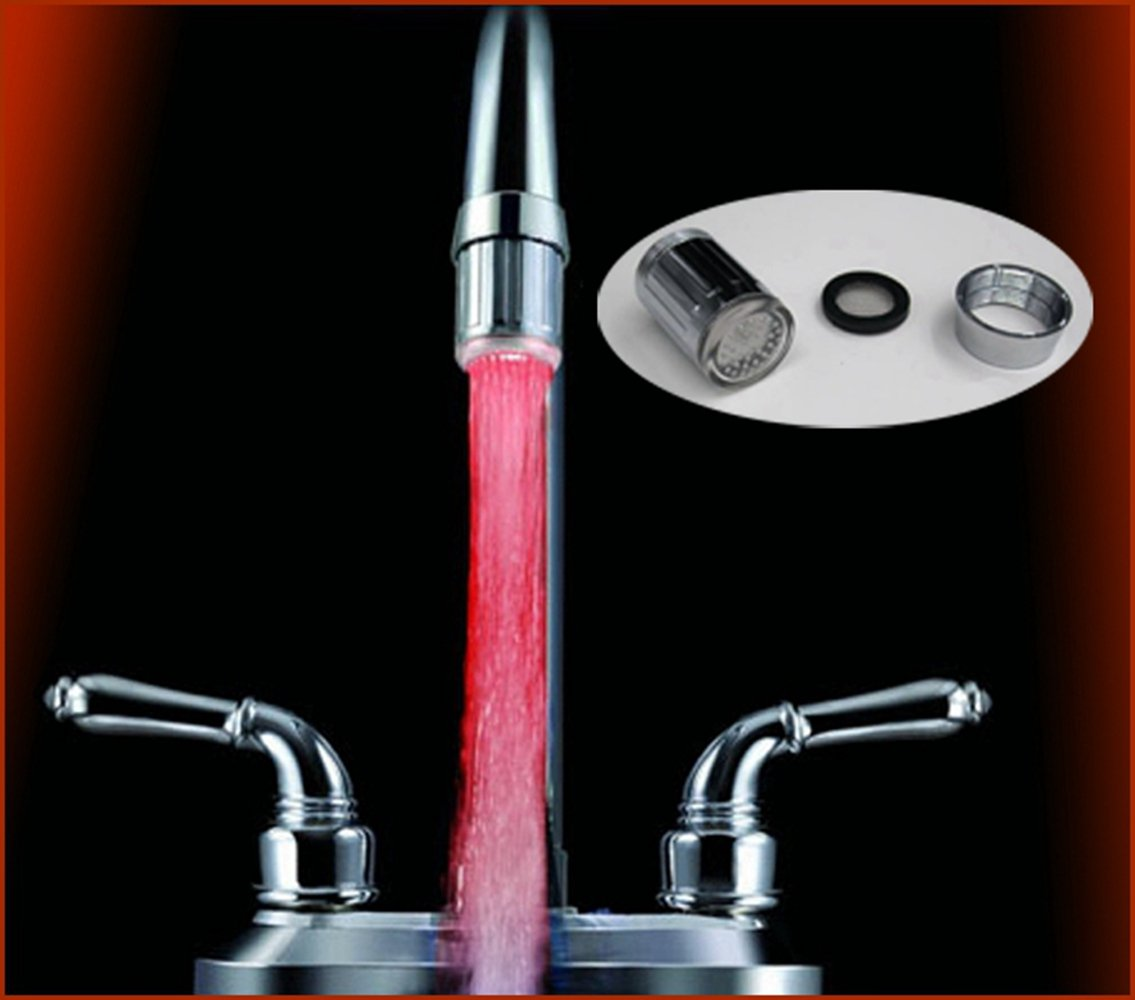 SWEON LED Faucet light Colorful Change Automatic Bathroom Kitchen ...