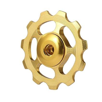 JUNERAIN MTB 11T - Rueda de desviación Trasera para Bicicleta de Carretera (cerámica),