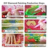 5D Diamond Painting Kits for Adults Kids Full Drill Diamond Embroidery Gem Art Craft for Home Wall Decor, Wooden Bridge Sea