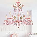 Bagood Gypsy Pink Flowers Crystal Chandeliers