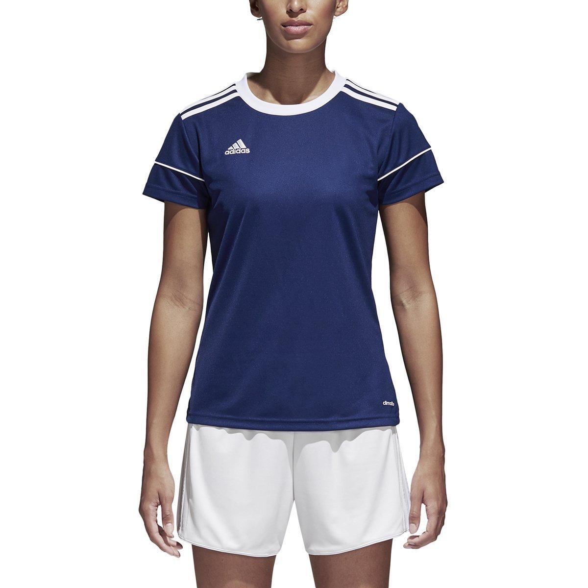 AdidasレディースSquadra 17ジャージー B01NCI6GNE XS|Dark Blue-white Dark Blue-white XS