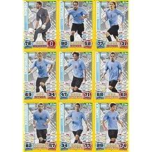 Match Attax England World Cup 2014 Argentina Base Card Team Set (11 Cards)