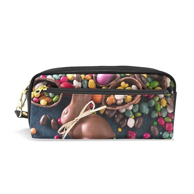 Estuche para lápices de Pascua con forma de conejo y huevos ...