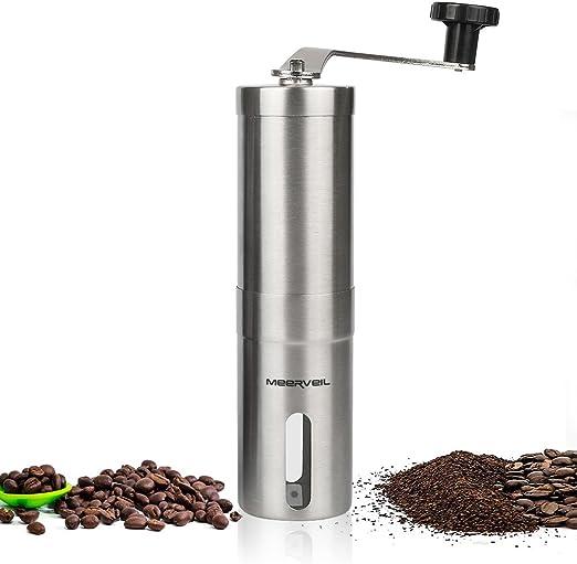 de mano viajes Molinillo de caf/é manual firme perfecto para el hogar ajustable la oficina