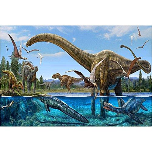 Dinosaur World Jigsaw Puzzle - Baidecor Dinosaurs Jigsaw Puzzles Basswood 300 Pieces Toys