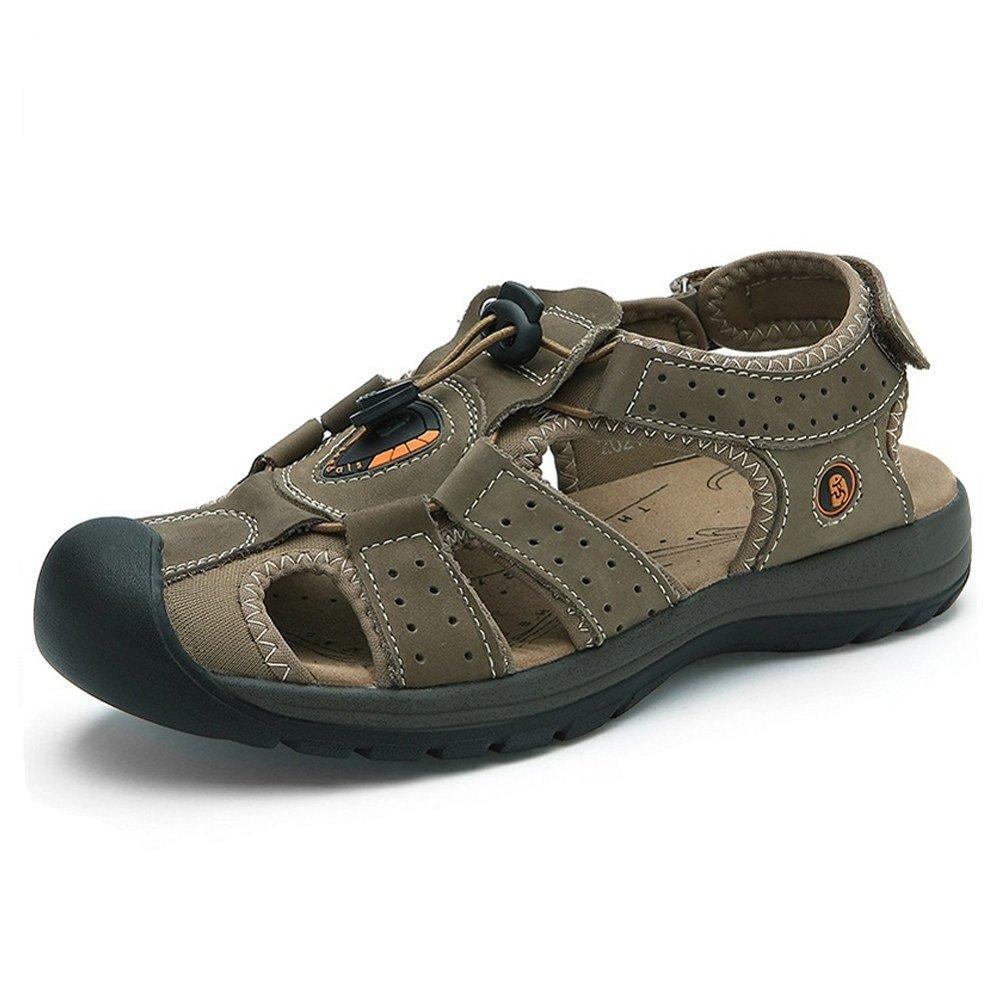 Brillunt Gents' Deodorization Back-Strap Toggle Sandal Holiday Fisherman Sport Outdoor Leather MSD003