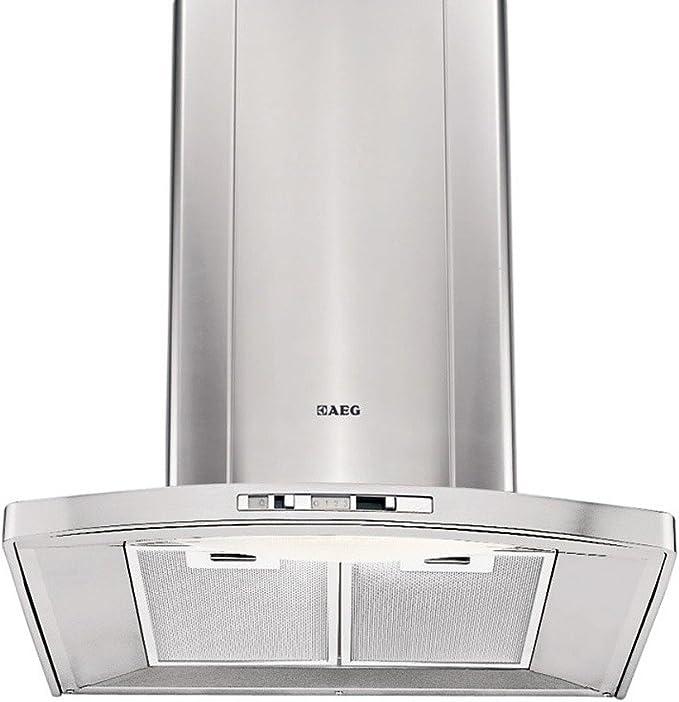 AEG DK9160-M 410 m³/h De pared Acero inoxidable - Campana (410 m³/h, Recirculación, 62 dB, 47 dB, 62 dB, De pared): Amazon.es: Hogar
